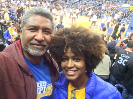 Date night at a Warriors game!