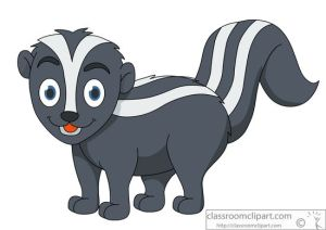 cartoon stripped skunk clipart